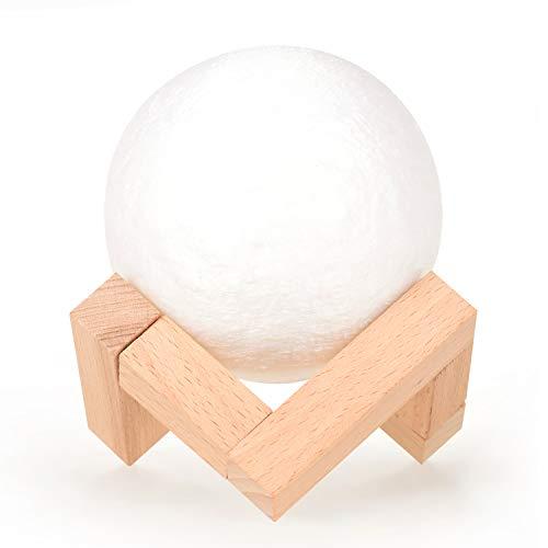Aibecy lampada luna creativa lampada lunare stampata in 3D luce notturna a LED con supporto telecomando per bambini ragazze compleanno ringraziamento regali di natale 16 colori