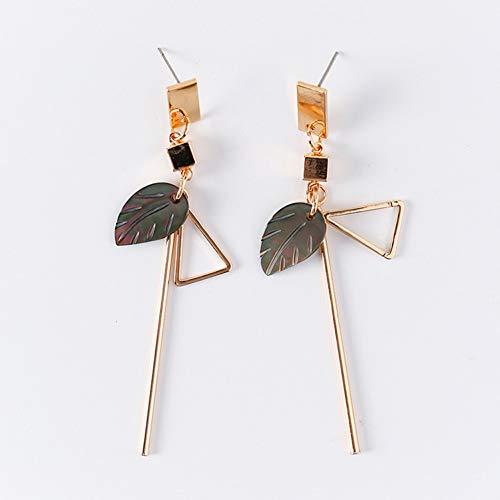 JINGM Géométrique Carré Rond Shell Acrylique Longues Boucles d'oreilles pour Les Femmes Triangle Fleur Gland