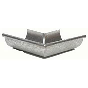 White AMERIMAX HOME PRODUCTS 33202 5-Inch Galvanized Outside Mitre