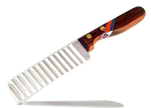 Crinkle Cutter Messer, Holzgriff (# 019)