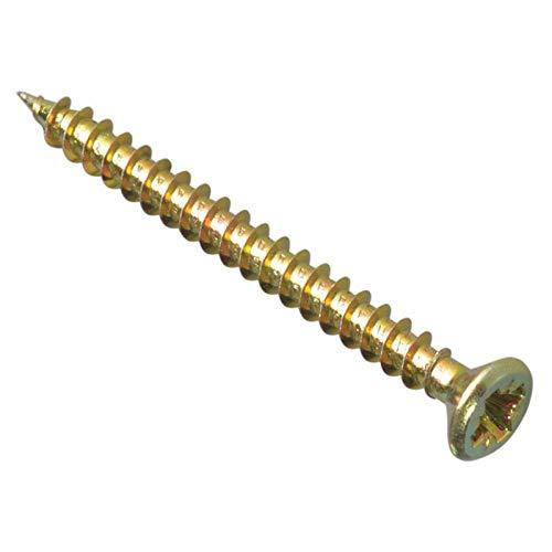 Bargainscrews - Confezione da 200 viti multiuso, ideali per essere impiegate su pannelli truciolari, MDF, PVC e legno 3,5 x 50mm