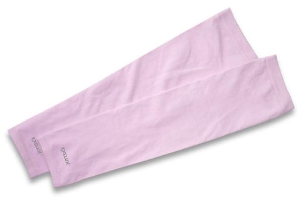 レガシー計算するレイプEXELUX UVカットアームスリーブ ピンク