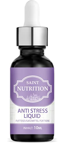 Saint Nutrition Anti Stress Hanföl – Beruhigungsmittel aus 100% pflanzlichem Bio Hanfoil für Tiere – wirkt unterstützend gegen Panikattacken, innere Unruhe und Angststörungen