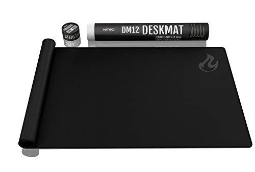 NITRO CONCEPTS DM12 Deskmat Schreibtischunterlage Mauspad - 1200x600mm - schwarz