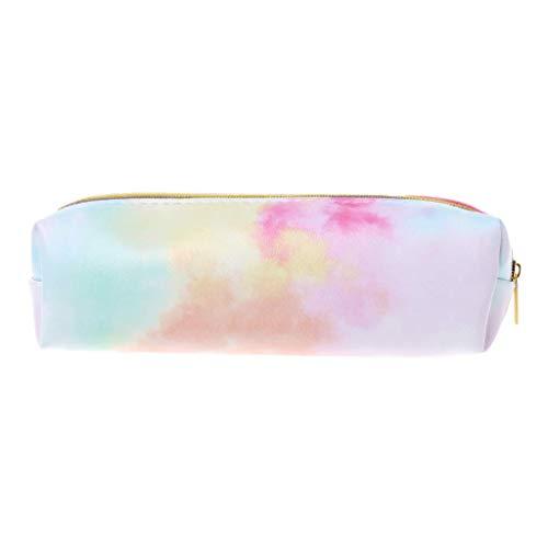 Ogquaton Estuche para lápices Kawaii, Bolsa de cosméticos de Maquillaje Rosa Colorido para útiles Escolares Papelería, útiles y útiles