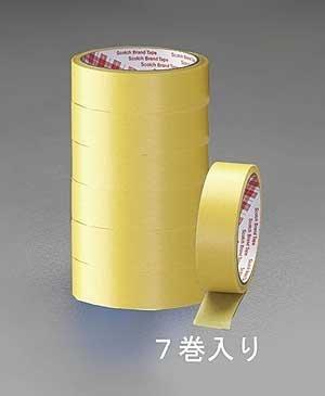 エスコ(ESCO) 塗装用マスキングテープ(7巻) 18mm×18M EA943MB-18 [養生テープ]