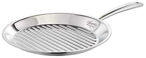 Lagostina ACCADEMIA LAGOFUSION - Bistecchiera 28 cm, in acciaio inox 18/10, per tutti i piani cottura, compresa l\'induzione italiana, 011116930128