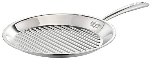 Lagostina ACCADEMIA LAGOFUSION Poêle grill 28 cm Inox 18/10 Tous feux dont induction Italie Garantie 25 ans 011116930128