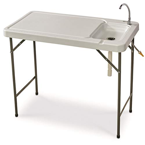 Guide Gear Folding Fish/Game Cleaning Table with Sink-Faucet