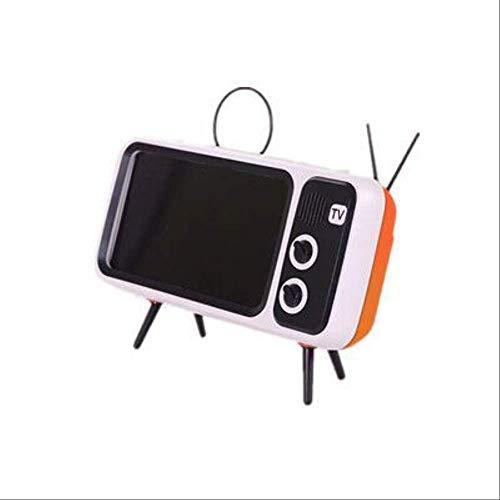 Retro TV Meisje Hart TV Bluetooth Audio Speaker Mobiele Telefoon Stand Creatieve Subwoofer achtervolgen Artifact, Vibrant Orange