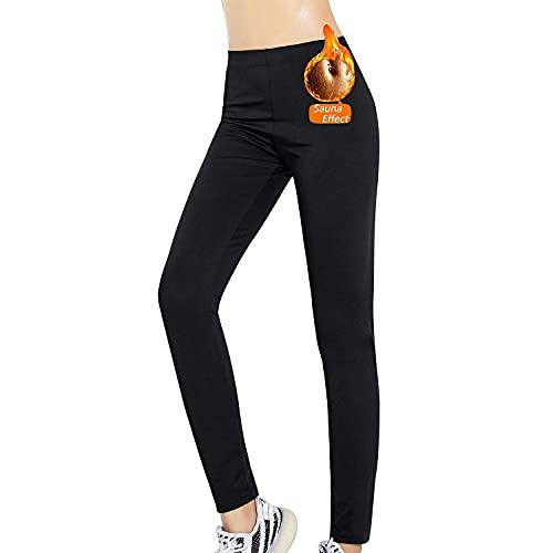 FLYGAGA Pantalones De Sauna para Mujer Quemadores De Grasa Perder Peso Mallas Deportivas Elásticos Entrenamiento Adelgazamiento Sudor Térmico Moldeador De Cuerpo Yoga