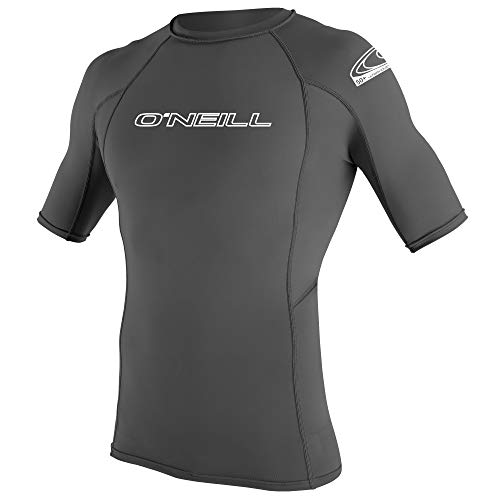 O'Neill Wetsuits Men's Basic Skins Short Sleeve Sun Shirt Chaleco Protector, Hombre, Gris, 3XL