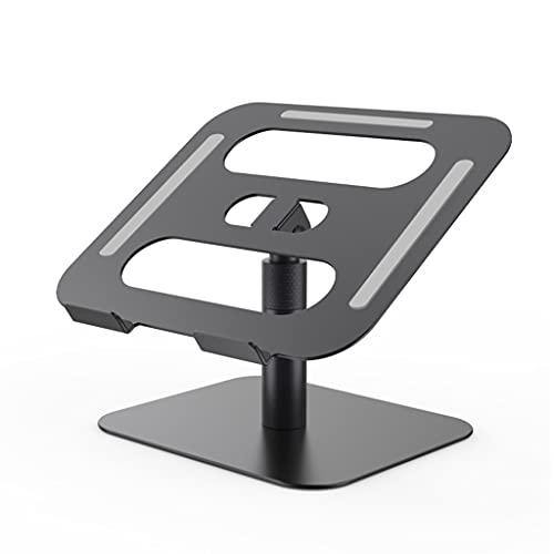 HEYLULU Soporte de Aluminio para computadora portátil Altura de elevación Plegable/ángulo Ajustable para portátil Soporte de enfriamiento para MacBook Pro para iPad Laptop Negro