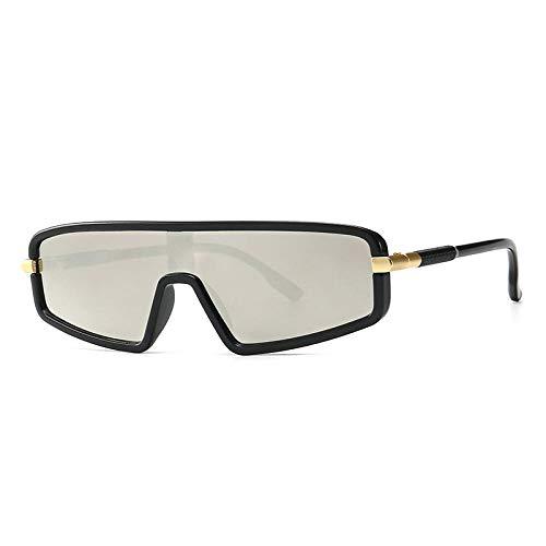 DLSM Retro Flat Top integrierte Flat Top Model Laufsteg Sonnenbrille Trend Strand Sonnenbrille Fahrbrille-C5