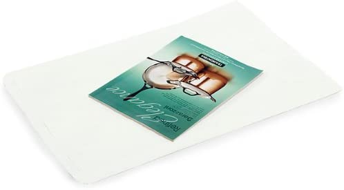 50 Pack, White Kraft Paper Merchandise Bags, 14x3x21