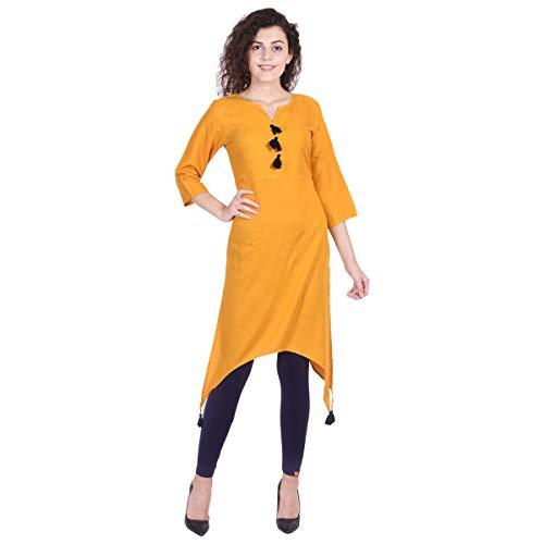 Vihaan Impex Indian Kurti Damen Lange Kleider lang indische Tunika VIKU8037_XL
