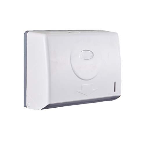bjyx Soporte de papel higiénico Caja de pañuelos de pared de baño Bandeja de toalla de mano de plástico bandeja de inodoro impermeable para almacenamiento de pañuelos adhesivo (color: blanco)