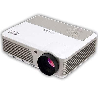HRRF Smart Micro Projector Support LED Multimedia 1080P Proyectores LED para Movie TV Mostrar Videojuegos de Karaoke, Oficina, Ver películas