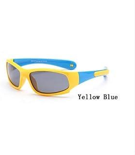 WDFDZSW - WDFDZSW Super Light niños TR90 Gafas de Sol polarizadas Seguridad de los niños Marca de los vidrios de Goma Flexible de Oculos Infantil (Lenses Color : 7)