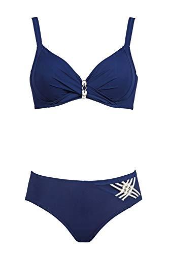 Charmline Bikini fur Frauen Mod.2091 Dis.750 Col.116 Navy-White (DE 44B, 116 Navy-White)