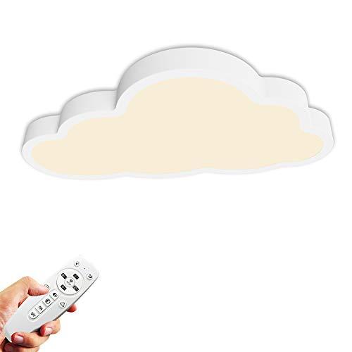 36W Lámpara de techo, Luz de techo LED, Regulable con control remoto, Forma de nube 5cm de espesor Plafón, Lámpara de habitación infantil, lámpara de dormitorio, guardería, salón Iluminación