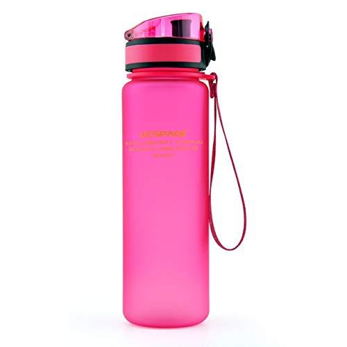 Bruce Dillon Borraccia Sportiva Calda 500ml 1000ml Shaker di proteine Bottiglia da Bevanda Portatile a Tenuta stagna da Viaggio all'aperto Plastica My Drink Bottle - 650ml, Blue