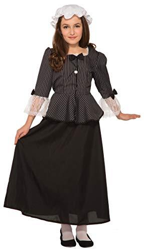 Forum Novelties Girl's Revolutionary War Martha Washington Costume, Large