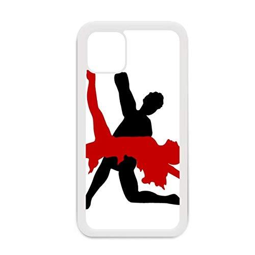 Art Duet Dance Social Dancing para iPhone 12 Pro Max - Carcasa para Apple Mini, color blanco