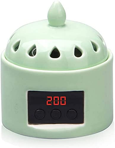 Soportes de incienso, termostato Quemador de incienso Cerámica para el hogar Quemador de incienso electrónico Plugin Horno de aromaterapia Desechos de aceite esencial Incienso Shen Tan Incienso Deco