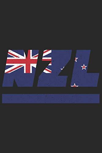 NZL: Neuseeland Tagesplaner mit 120 Seiten in weiß. Organizer auch als Terminkalender, Kalender oder Planer neuseeländischen Flagge verwendbar