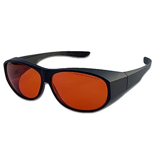 Gafas De Seguridad Láser, Gafas De Protección Ocular Anti UV,200-540 NM Remoción De Tatuajes Gafas De Seguridad Láser Adecuadas para Técnicos con Láser