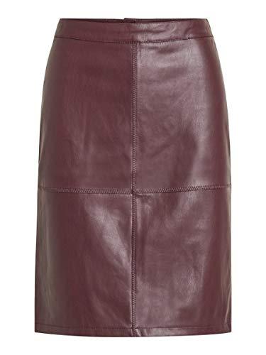 Vila Damen Vipen New Skirt-fav Rock, Bordeaux, S EU