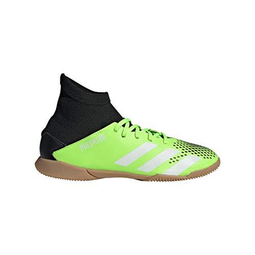 adidas Predator 20.3 IN Niño, Zapatilla de fútbol Sala, Signal Green-White-Core Black, Talla 31 EU (31 EU)