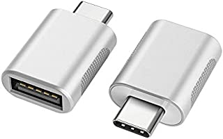 Deal on nonda USB C to USB Adapter(2 Pack),USB-C to USB 3.0 Adapter,USB Type-C to USB,Thunderbolt 3 to USB Female Adapter...