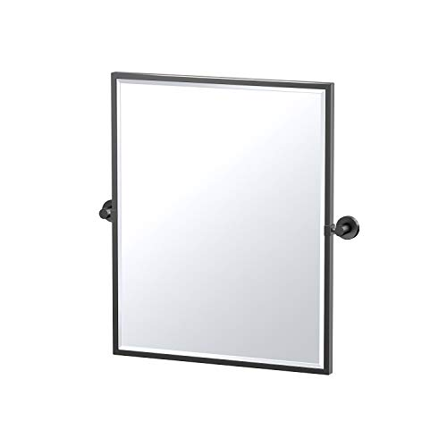 Gatco Glam Framed Rectangle Mirror, 25 Inch, Matte Black