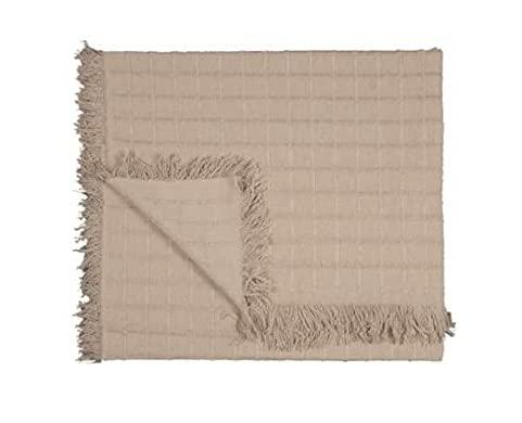 Textiles-HOGAR: Colcha Multiusos sofá y Cama [1,2,3PLAZAS] (Beige, 180X260CM)