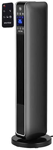 Keramik Heizlüfter | 3 Stufen, kalt, 1200, 2200 Watt | 70° Oszillierend | 8h Timer | Fernbedienung | Temperaturanzeige | Temperatureinstellung: 10-49°C | Heizgerät | Elektroheizer