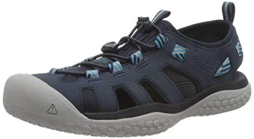 KEEN Women's SOLR High Performance Sport Closed Toe Water Sandal, Navy/Blue Mist, 7.5
