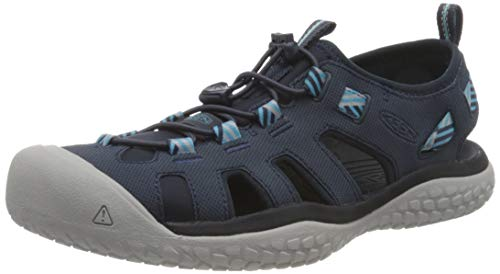 KEEN SOLR Closed Toe, Chaussure d'eau Femme, Navy/Blue Mist, 26 EU