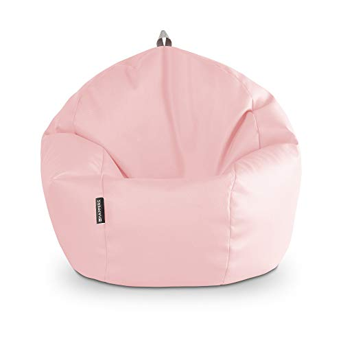 HAPPERS Puff Pelota Polipiel Interior Rosa