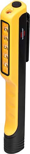 Brennenstuhl LED Clipleuchte HL 100 (Batteriebetriebene Inspektionsleuchte mit Clip und Magnet, Werkstattlampe mit 107 + 10 lm, Stiftleuchte mit max. 20h Leuchtdauer)