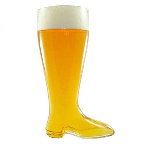Bicchiere da birra stivali XXL (2L) bianco birra vetro