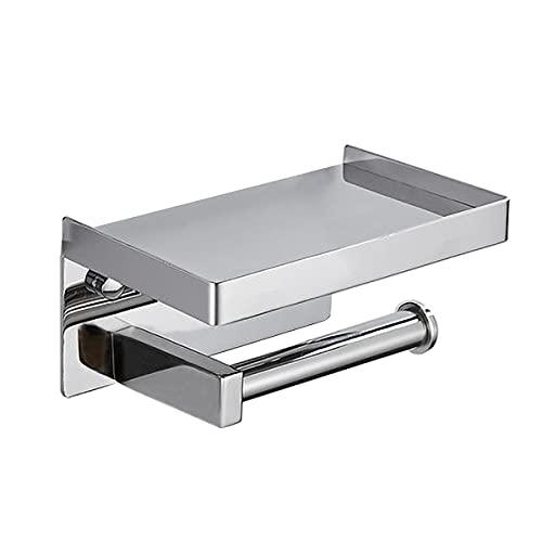 JKGHK Portarrollos para Papel Acero Inoxidable Engrosado 2 Métodos De Instalación Estante De Almacenamiento Adecuado para Baño Y Cocina,F1,Punch