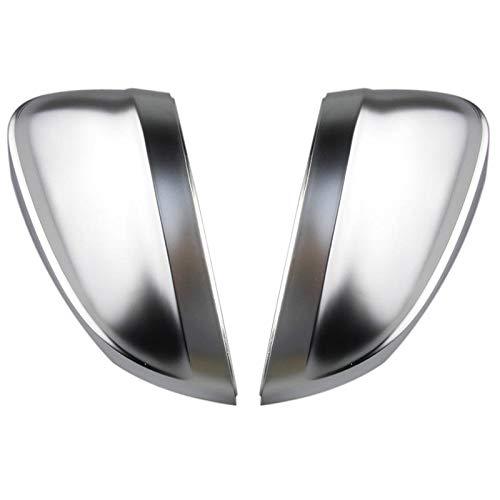 SLONGK Innerhalb des seitlichen Unterstützungslochs Mattes Chrom-Silber-Spiegel-Kasten-Rückspiegel-Abdeckungs-Oberteil, für Audi A4 B9 A5 8W