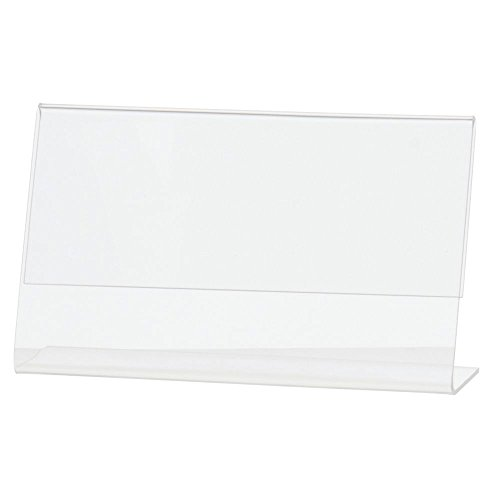 "Acrylic Sign Holder with Slant Back Clear Acrylic Horizontal Picture Frame Ad Holder - 5""L x 3""H"