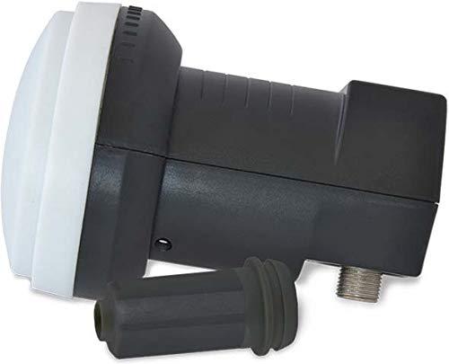 STRONG SRT L722 Universal Twin LNB voor aansluiting op 2 satellietontvangers, voor digitale televisie HDTV, 4K, UHD, 0,2 dB, weerbestendig zwart, Eenvoudige ontvanger.
