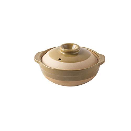 Pentola Pentola di terracotta in ceramica rotonda tradizionale in stile cinese in stile cinese con doppia impugnatura e copertura stufa a gas speciali pentola di terracotta per stufa 500ml Pentola vap
