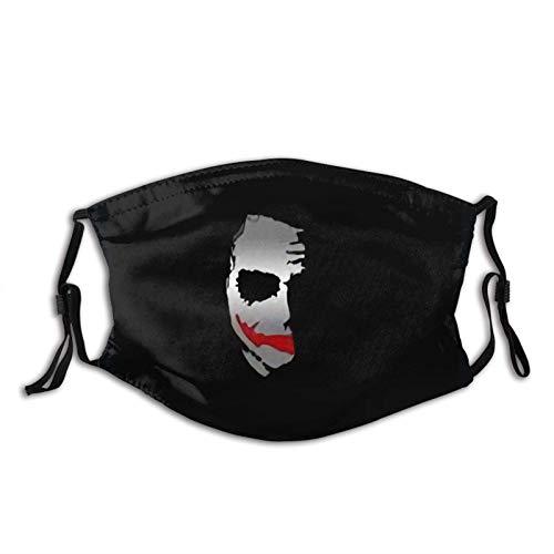 Joker Amoled Máscara de cara oscura con filtros reemplazables Máscara de carbón activado para viajes de fiesta, uso diario, lavable, agradable a la piel, antiempañamiento a prueba de polvo