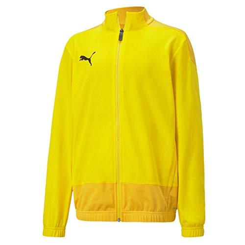 PUMA Kinder teamGOAL 23 Training Jacket Jr Trainingsjacke, Cyber Yellow-Spectra Yellow, 128