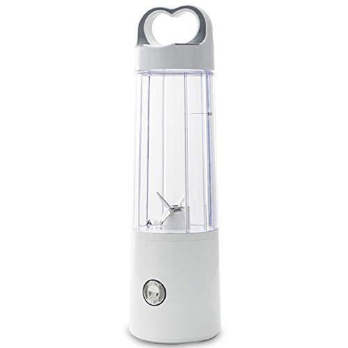 SovelyBoFan Licuadora Personal Licuadora de Vidrio para Batidos y Batidos, Vaso Exprimidor Recargable USB, Licuadora de Viaje Multifuncional Peque?A, de un Solo Servicio Duradera y Resistente